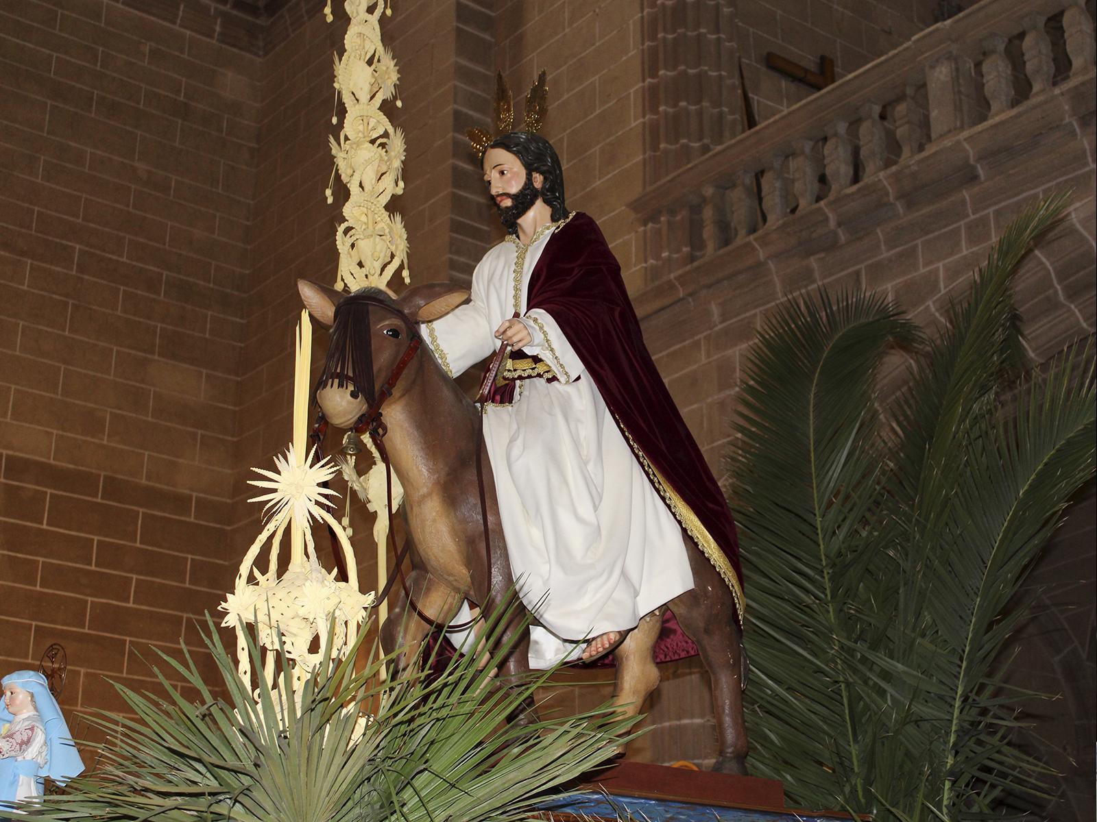 Paso de 'La Borriquita' del Domingo de Ramos