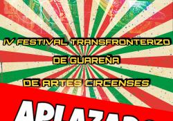 Queda Aplazado el Festival Transfronterizo de Artes Circenses de este año