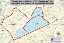 """Nota Informativa sobre las bases provisionales de la concentración parcelaria """"Las Arenas"""""""