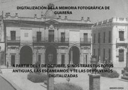 Digitalización y cesión de la Memoria Fotográfica de Guareña