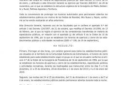 El Ayuntamiento de Guareña informa de los horarios navideños