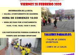 Ayuntamiento y Mancomunidad organizan este viernes la VII Marcha Urbana por las calles de Guareña