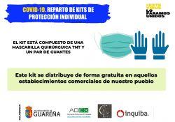 Reparto de Kits de Protección Individual a través de los Establecimientos Comerciales de nuestra localidad