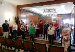 La nueva junta directiva de la Asociación de Mujeres 'La Nacencia' visitó este viernes el ayuntamiento