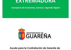 El Ayuntamiento de Guareña recibe una subvención para la contratación de una Gerente de Dinamización Comercial